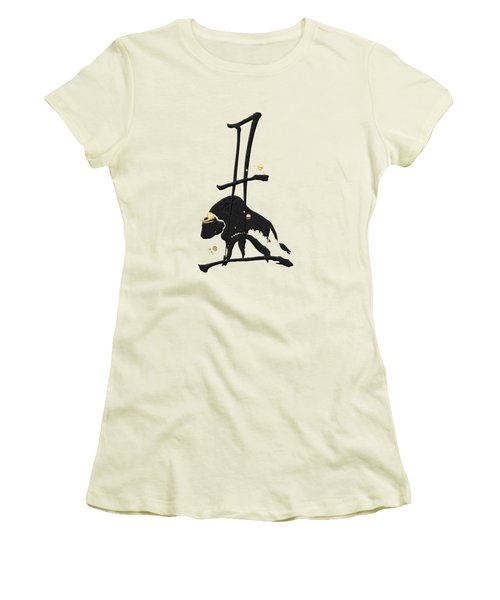 Chinese Zodiac - Year Of The Ox On Rice Paper Women's T-Shirt (Athletic Fit)