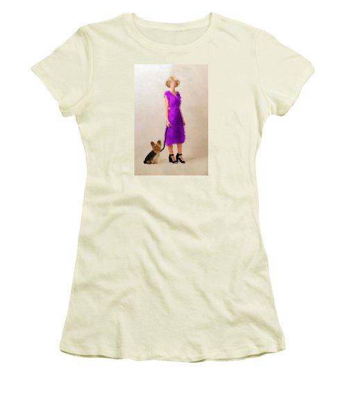 Women's T-Shirt (Junior Cut) featuring the digital art Christina by Nancy Levan