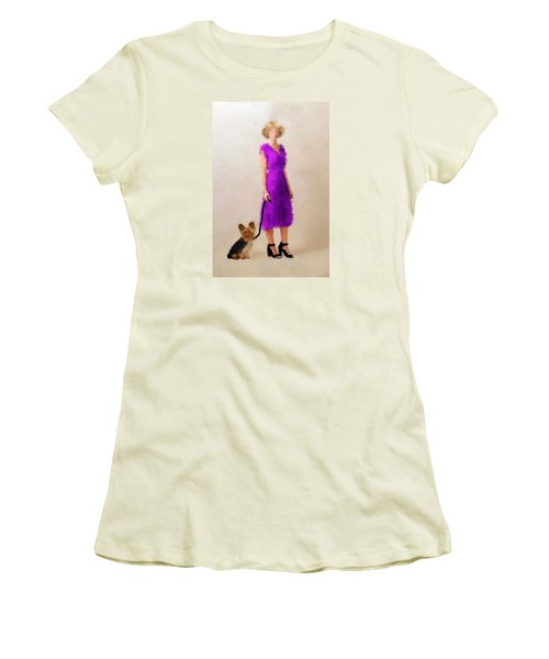 Women's T-Shirt (Athletic Fit) featuring the digital art Christina by Nancy Levan