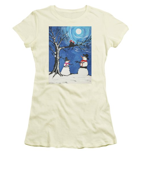 Christmas Cats In Love Women's T-Shirt (Athletic Fit)