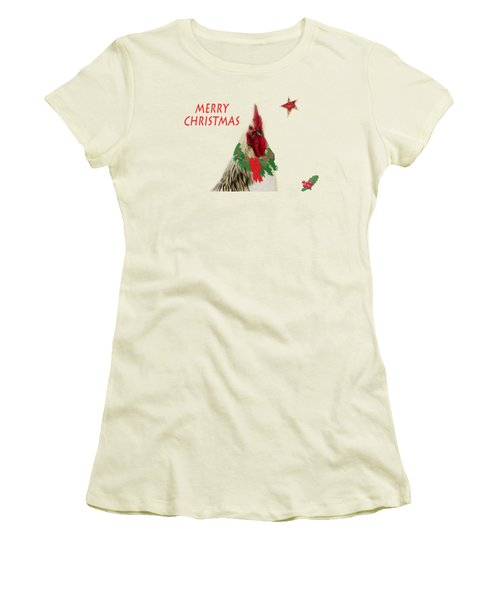 Christmas Rooster Tee-shirt Women's T-Shirt (Athletic Fit)