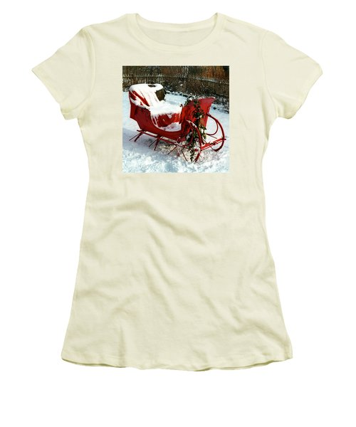 Christmas Sleigh Women's T-Shirt (Athletic Fit)