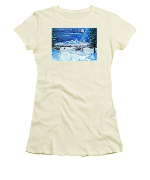 Christmas Wonderland Women's T-Shirt (Athletic Fit)