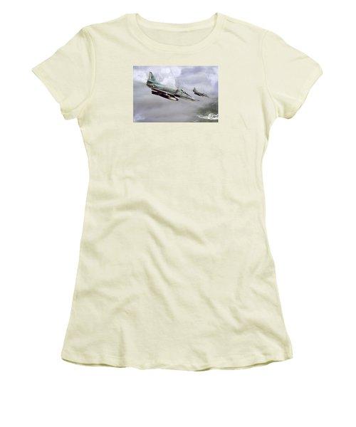 Chu Lai Skyhawks Women's T-Shirt (Athletic Fit)