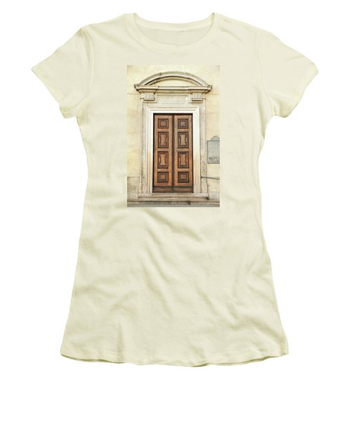 Church Door Women's T-Shirt (Athletic Fit)