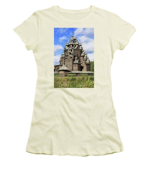 Church Of The Intercession Of The Blessed Virgin Mary, A Unique Monument Of Church Architecture Of A Women's T-Shirt (Athletic Fit)