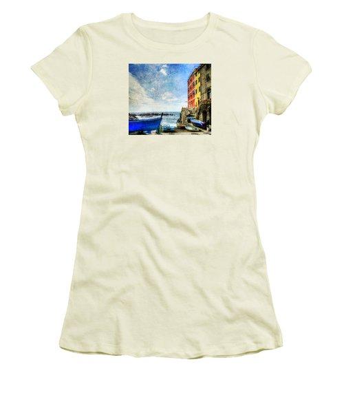 Cinque Terre - Little Port Of Riomaggiore - Vintage Version Women's T-Shirt (Athletic Fit)