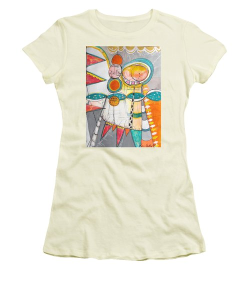 Circus One Women's T-Shirt (Junior Cut) by Karin Husty