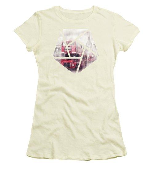 City-art London Westminster Collage II Women's T-Shirt (Junior Cut) by Melanie Viola