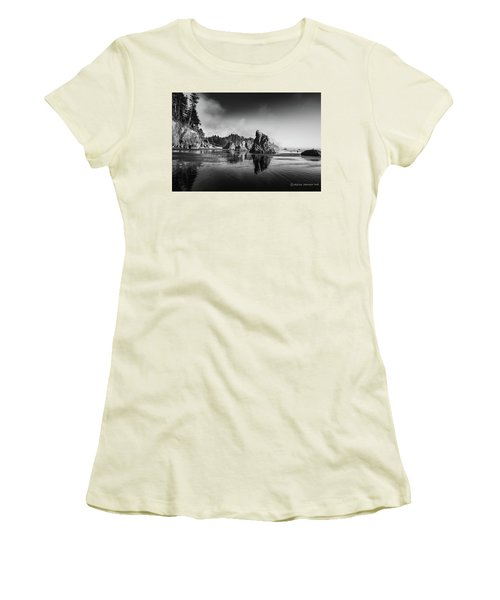 Clear Day At Ruby Beach Women's T-Shirt (Athletic Fit)