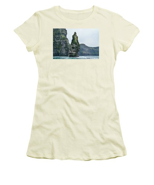 Cliffs Of Moher Sea Stack Women's T-Shirt (Athletic Fit)