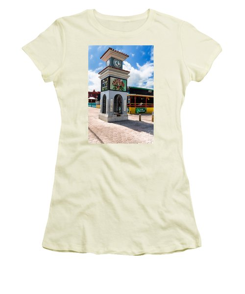 Women's T-Shirt (Junior Cut) featuring the photograph Clock Tower by Lawrence Burry