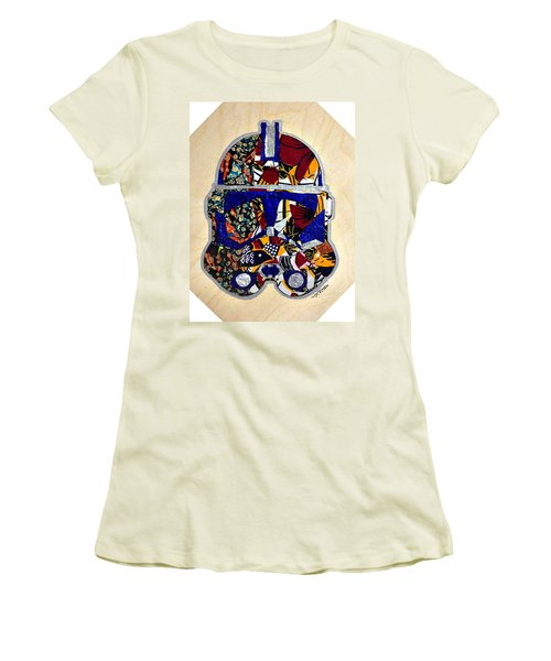 Women's T-Shirt (Junior Cut) featuring the tapestry - textile  Clone Trooper Star Wars Afrofuturist by Apanaki Temitayo M