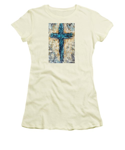 Clothe Yourself In Mercy Women's T-Shirt (Junior Cut) by Kirsten Reed