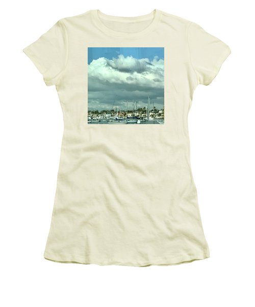 Clouds On The Bay Women's T-Shirt (Junior Cut) by Kim Nelson
