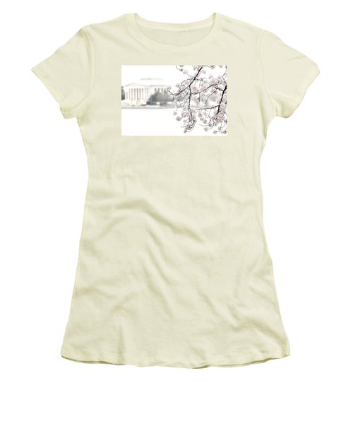 Cloudy With A Chance Of Tourists Women's T-Shirt (Athletic Fit)