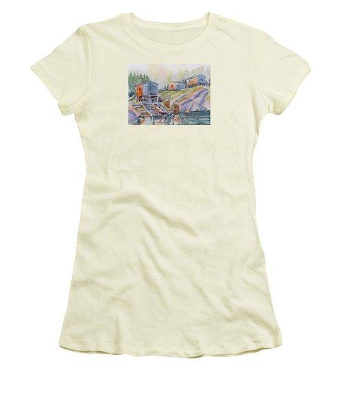 Coastal Village - Newfoundland Women's T-Shirt (Athletic Fit)