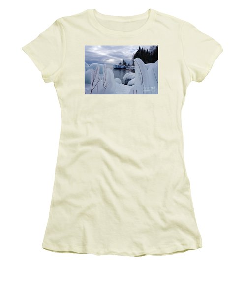Coated With Ice Women's T-Shirt (Junior Cut) by Sandra Updyke