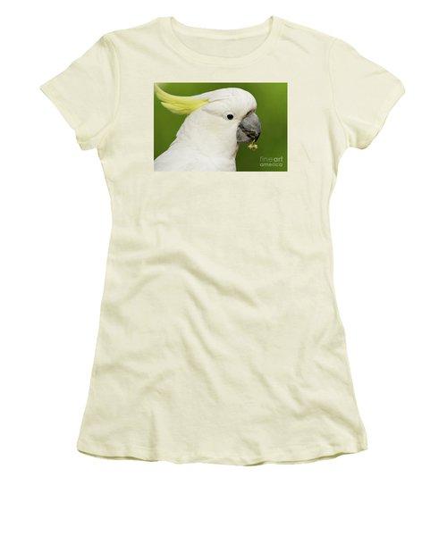 Cockatoo Close Up Women's T-Shirt (Junior Cut) by Craig Dingle