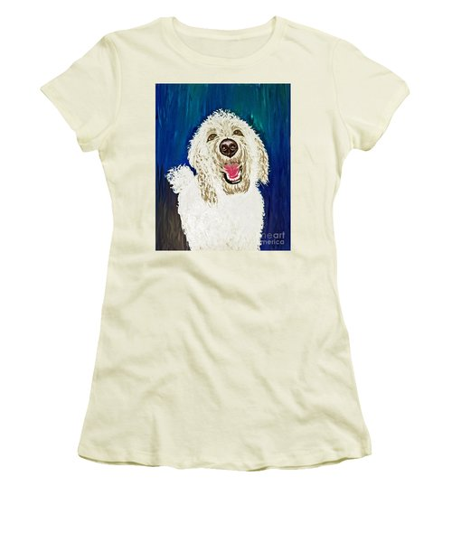 Women's T-Shirt (Junior Cut) featuring the painting Coco  by Ania M Milo