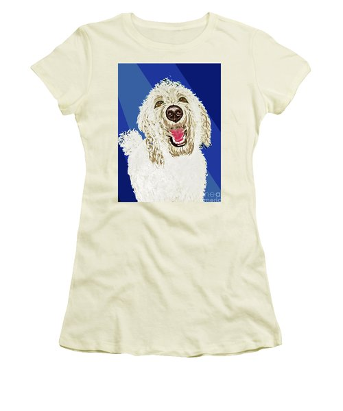 Women's T-Shirt (Junior Cut) featuring the painting Coco Digitized by Ania M Milo