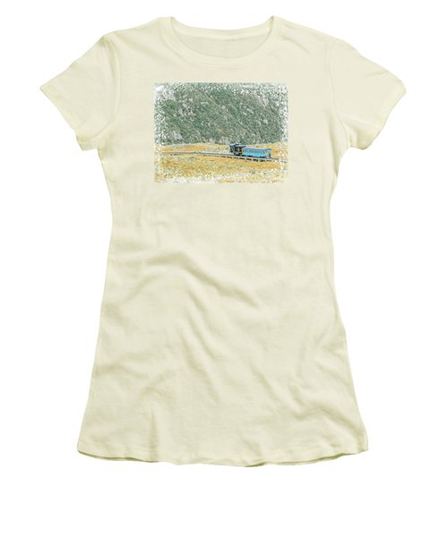 Cog Railroad Train. Women's T-Shirt (Athletic Fit)