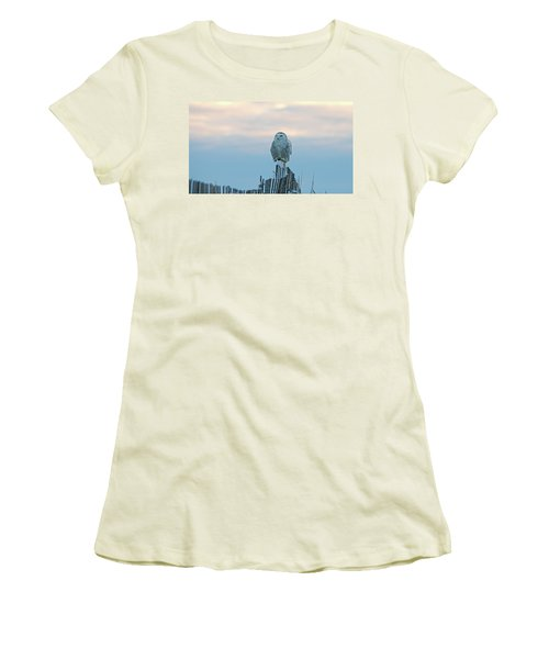 Cold Morning Light Women's T-Shirt (Junior Cut) by Stephen Flint