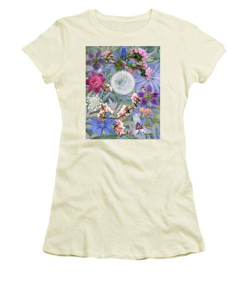 Women's T-Shirt (Junior Cut) featuring the digital art Collage One by John Selmer Sr