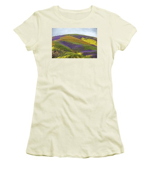 Women's T-Shirt (Junior Cut) featuring the photograph Color Mountain I by Peter Tellone