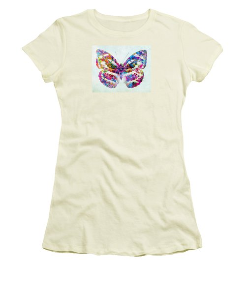 Colorful Butterfly Art Women's T-Shirt (Junior Cut) by Olga Hamilton