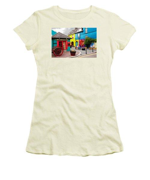 Colorful Corner Women's T-Shirt (Athletic Fit)