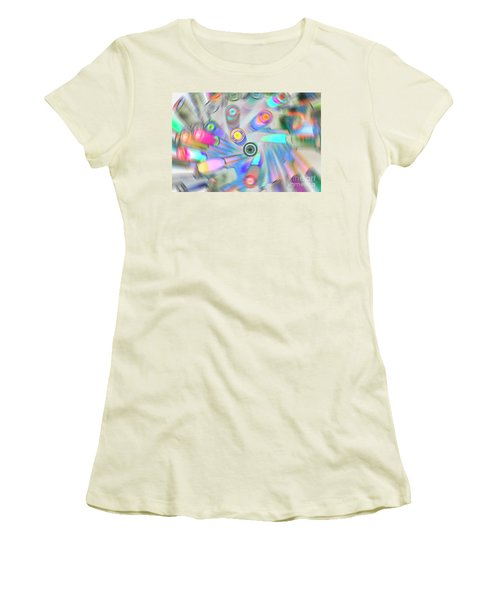 Women's T-Shirt (Athletic Fit) featuring the digital art Colourful Pens by Wendy Wilton