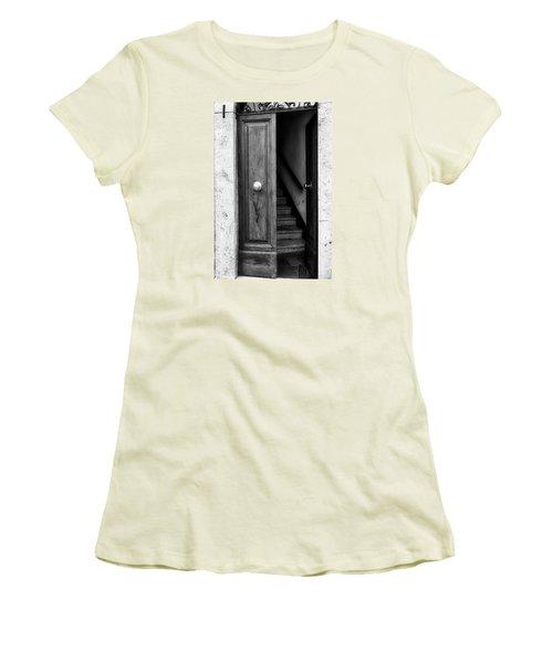 Come On In Women's T-Shirt (Junior Cut) by Deborah Scannell