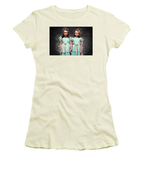 Come Play With Us - The Shining Twins Women's T-Shirt (Athletic Fit)