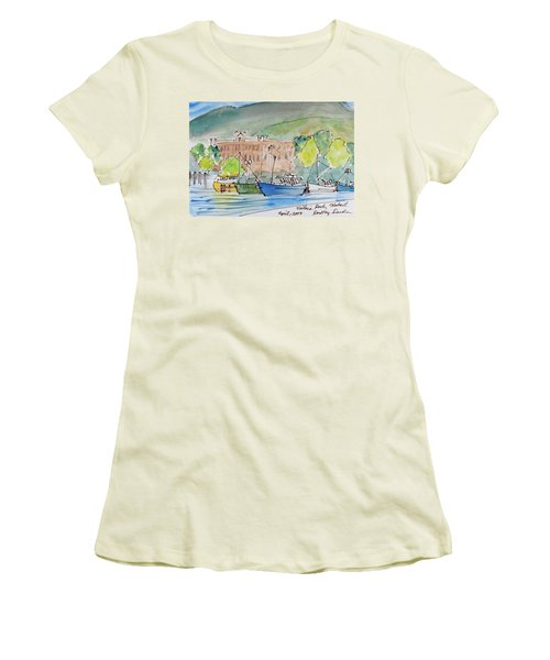 Fishing Boats In Hobart's Victoria Dock Women's T-Shirt (Athletic Fit)