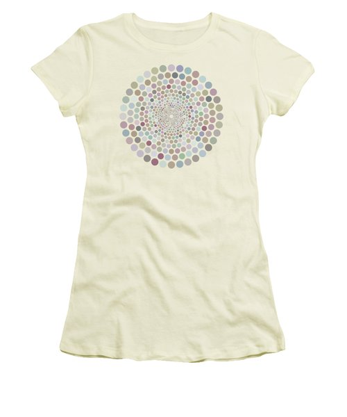 Vortex Circle - White Women's T-Shirt (Athletic Fit)