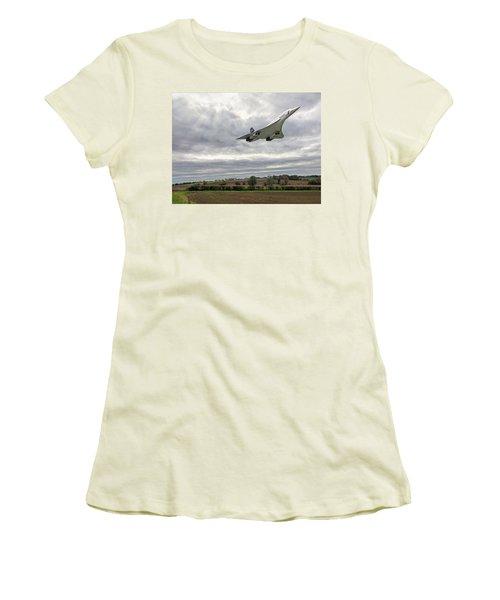 Concorde - High Speed Pass Women's T-Shirt (Junior Cut) by Paul Gulliver