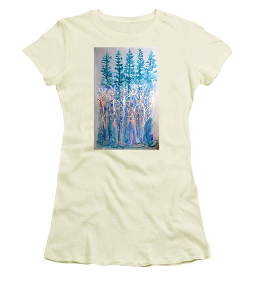 Connected In Indigo Women's T-Shirt (Athletic Fit)