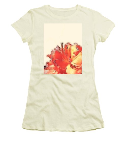 Coral Rhododendron Women's T-Shirt (Athletic Fit)