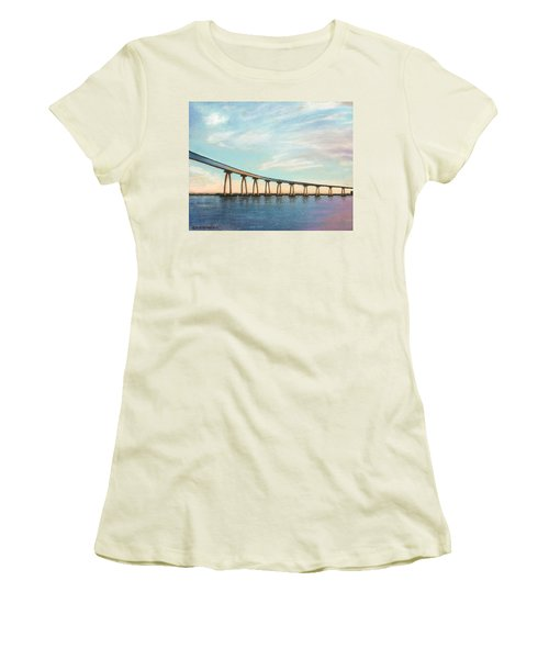 Coronado Bridge Sunset A Women's T-Shirt (Athletic Fit)