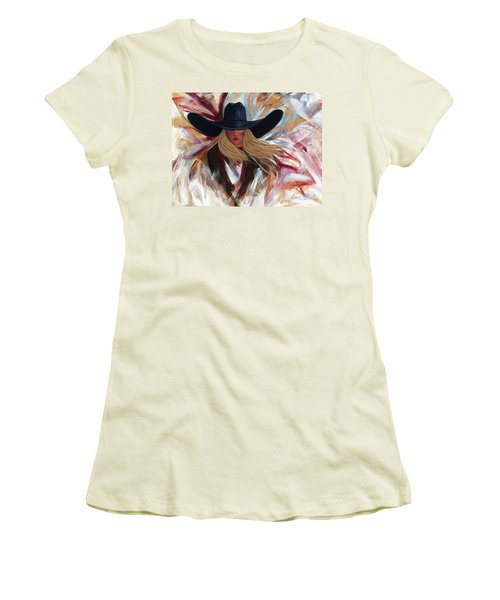 Cowgirl Colors Women's T-Shirt (Junior Cut) by Lance Headlee
