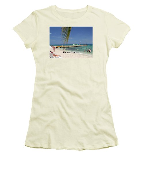 Cozumel Mexico Women's T-Shirt (Junior Cut) by Gary Wonning