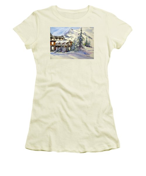 Crater Lake Lodge - Closed For Winter    Women's T-Shirt (Athletic Fit)