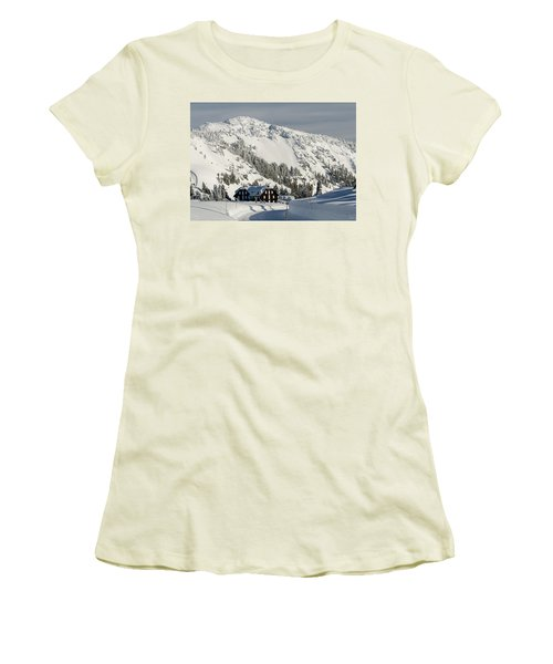Crater Lake Lodge Women's T-Shirt (Athletic Fit)