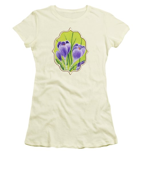 Crocus Women's T-Shirt (Junior Cut) by Anastasiya Malakhova