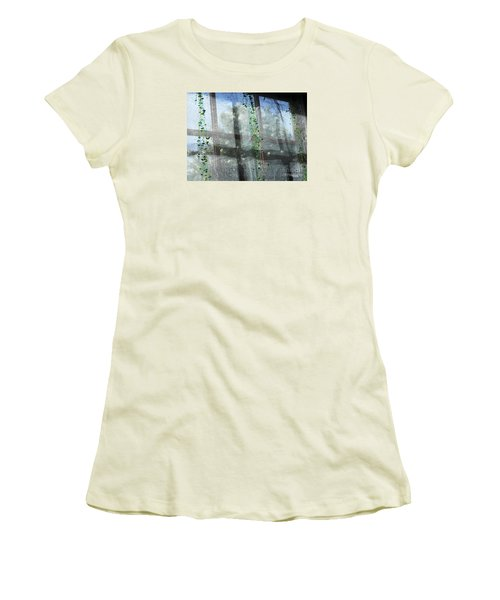 Women's T-Shirt (Junior Cut) featuring the photograph Crosses In The Window by Cheryl Del Toro