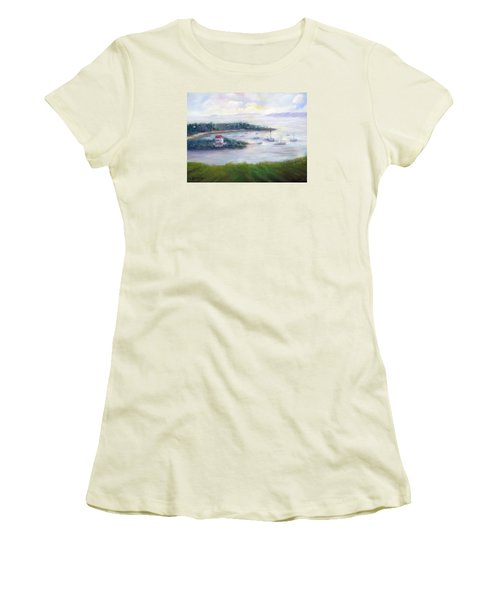 Cruz Bay Remembered Women's T-Shirt (Junior Cut) by Loretta Luglio