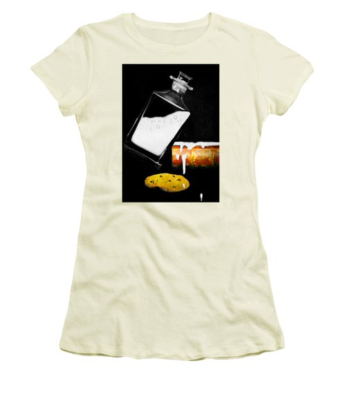 Women's T-Shirt (Junior Cut) featuring the photograph Crying Over Spilled Milk by Diana Angstadt