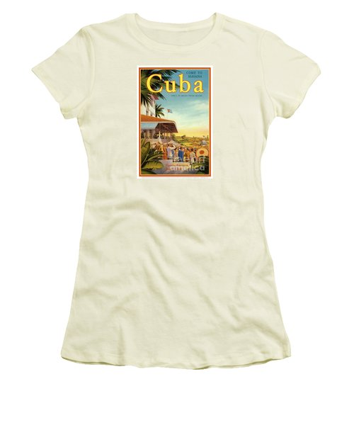 Cuba-come To Havana Women's T-Shirt (Athletic Fit)