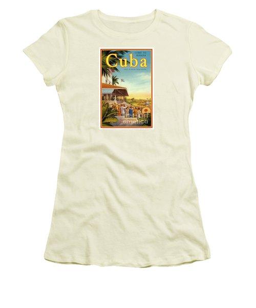 Cuba-come To Havana Women's T-Shirt (Athletic Fit)